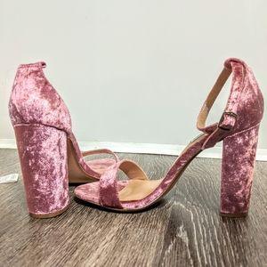 Steve Madden velvet heels